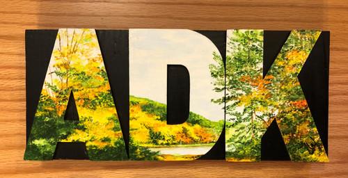 Wood Block Art ADK