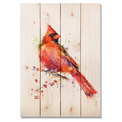 Cardinal - Pine Wall Art