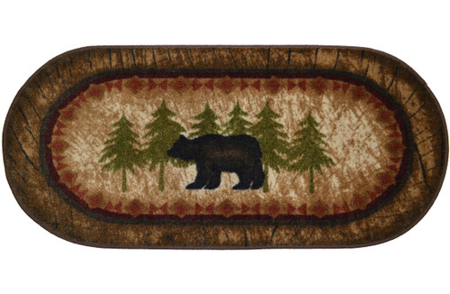 Birch Bear Oval Rug
