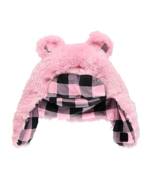 Pink Bear Critter Cap
