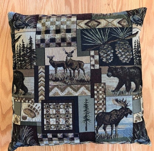 Cabin Tapestry Pillow