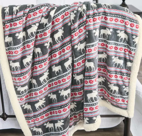 Moose Fair Isle Throw