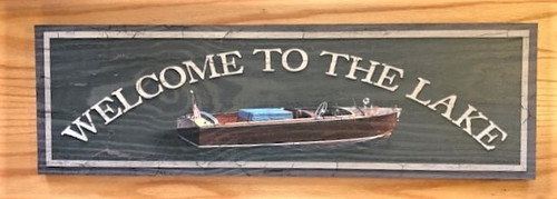 Adirondack Wood Sign - Vintage Boat