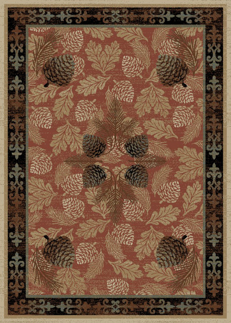 Adirondack Pinecone Brick Rug - Options Available
