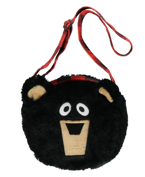 Fuzzy Black Bear Purse