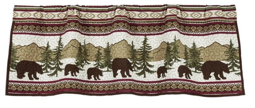 Bear Trail Valance