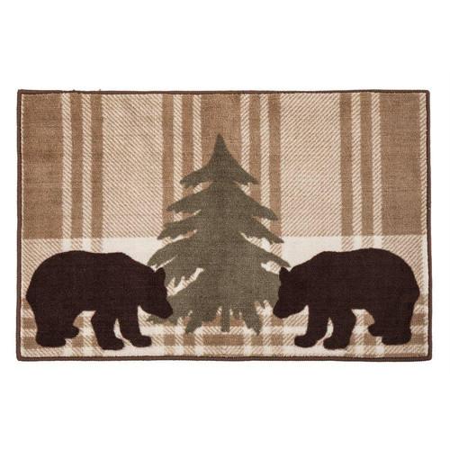 Brown Bear Plaid Rug