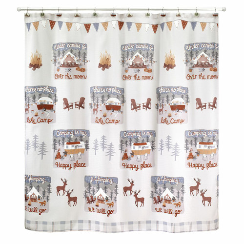 Gone Glamping Shower Curtain