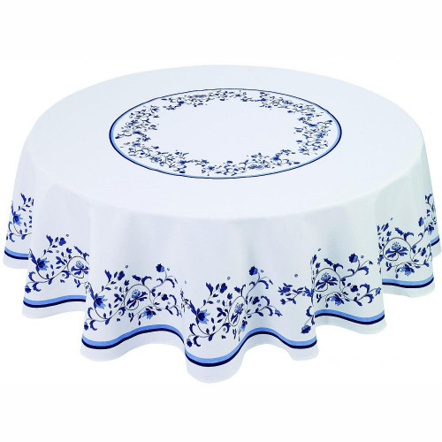 """Blue Portofino 70"""" Round Tablecloth"""