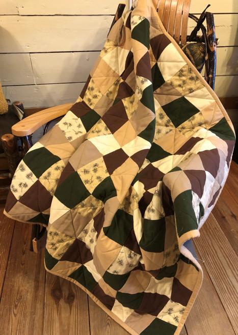 Pine Bough Flannel Lap Quilt