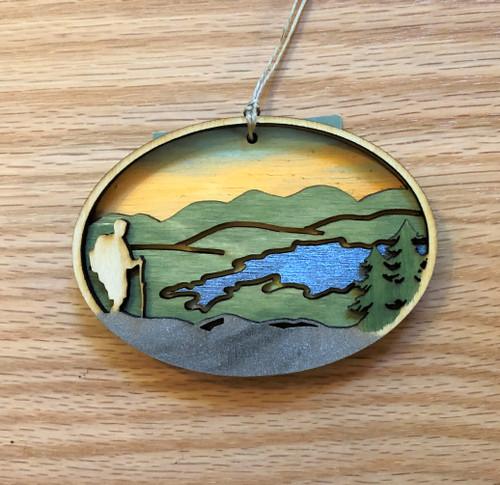 Adirondack Hiker Ornament