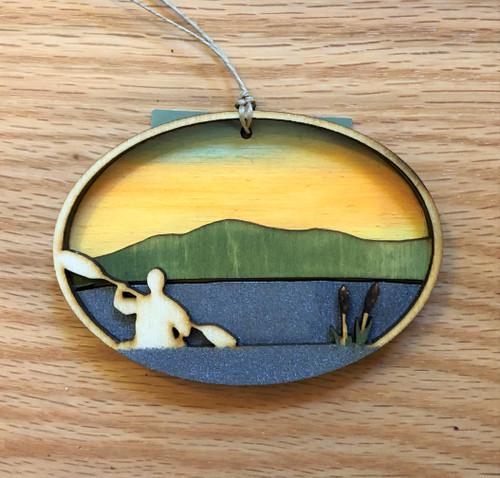 Adirondack Kayaker Ornament