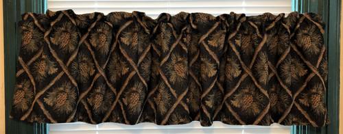 Black Diamond Pinecone Valance