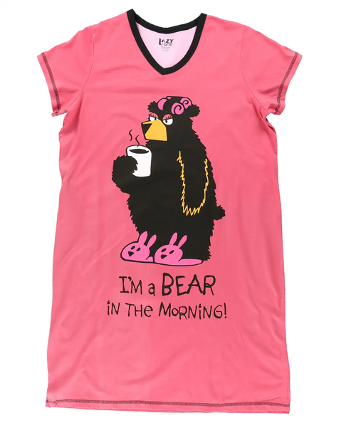 I'm A Bear in the Morning Ladies Nightshirt