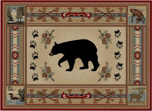 Woodlands Bear Rug