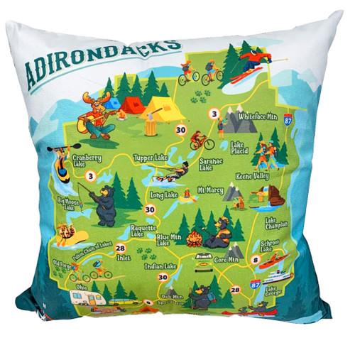 Adirondack Park Map Pillow