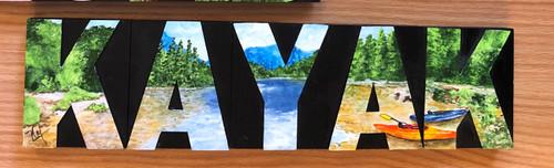 Wood Block Art - KAYAK