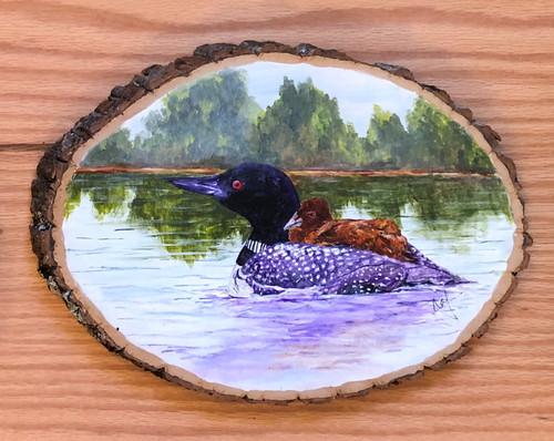 Loon Painting on Wood