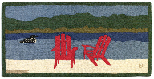 Loon Lake Chairs Hooked Wool Rug