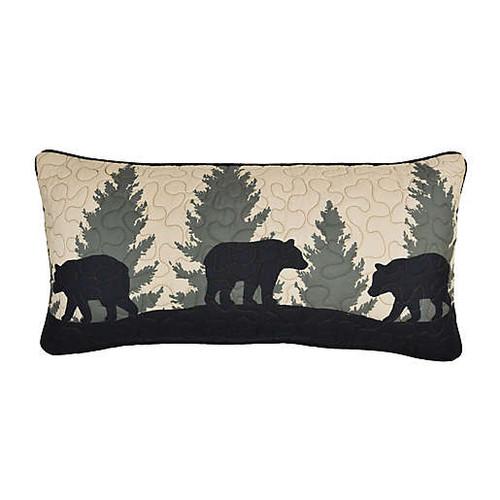 Bear Walk Plaid Rectangular Pillow