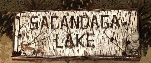 Birch and Twig Sacandaga Lake Sign