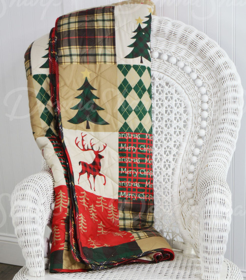 Christmas Lodge Throw
