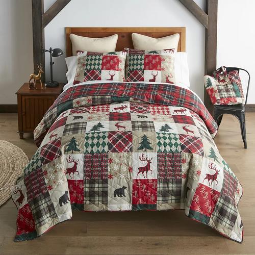 Christmas Lodge Quilt Set
