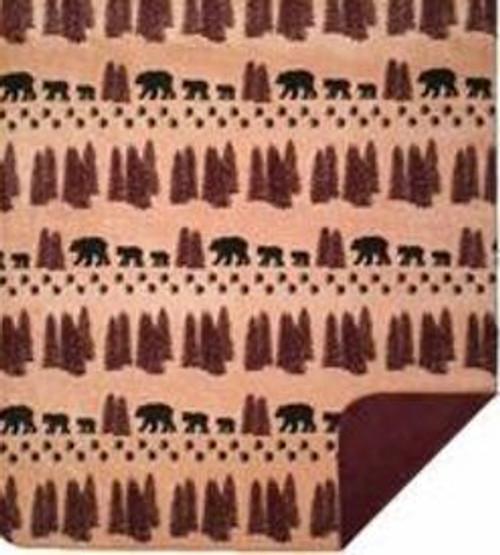 Denali Bear/Merlot Blanket