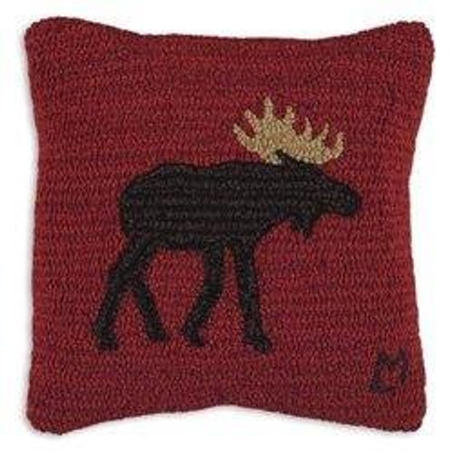 Brown Moose Pillow