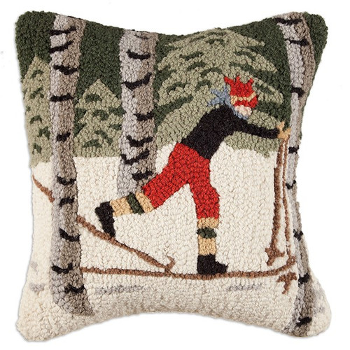 Back Country Skier Pillow