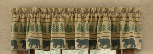 Bear Tracks Valance