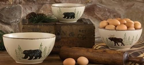 Rustic Retreat Moose & Bear Mixing Bowls