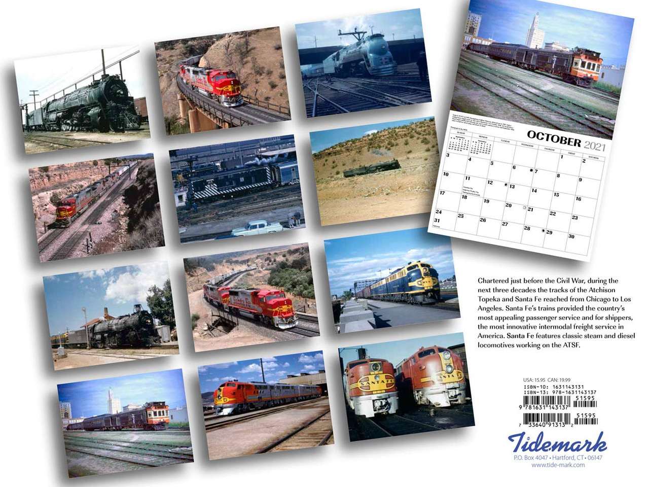 Santa Fe Railway 2021 Calendar   National Railroad Museum
