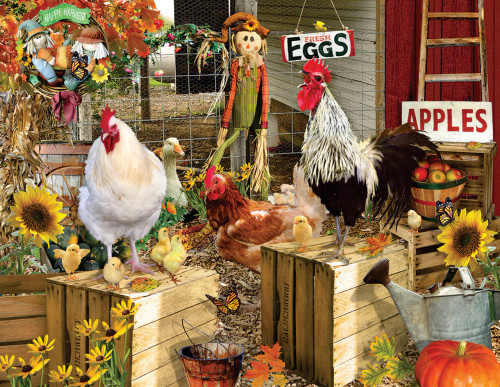 Chickens on the Farm 1000+ piece Jigsaw Puzzle