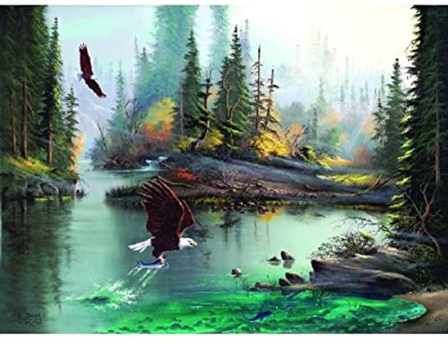River Eagles 1000+ piece jigsaw puzzle