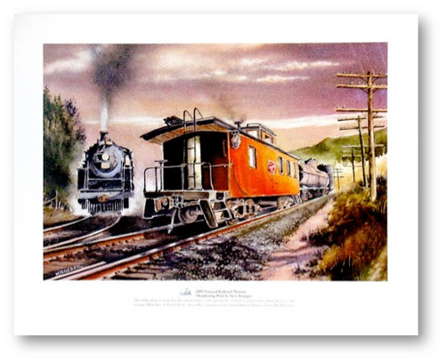National Railroad Museum® - Chicago, Milwaukee, St. Paul & Pacific Caboose #02 Print by Steve Krueger