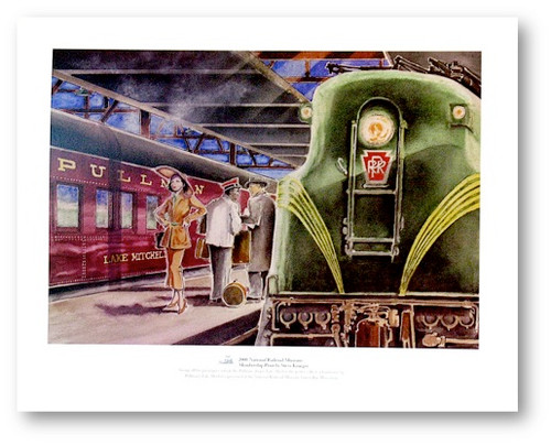 National Railroad Museum® - Pullman Lake Mitchell Print by Steve Krueger