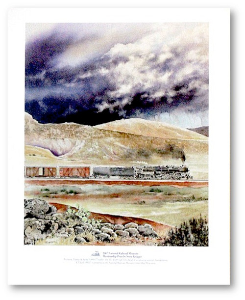Atchison, Topeka & Santa Fe #5017 Steam Locomotive Print by Steve Krueger
