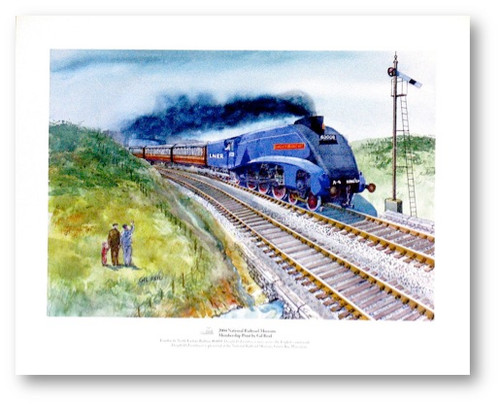 National Railroad Museum® - Dwight D. Eisenhower Locomotive Races Across the English Countryside Print by Gil Reid