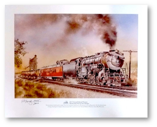 Chicago, Burlington & Quincy (CB&Q) Dynamometer #30 Print by Steve Krueger