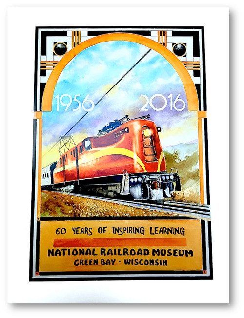 Pennsylvania Railroad (PRR) GG1 / National Railroad Museum® 60th Anniversary Print by Steve Krueger