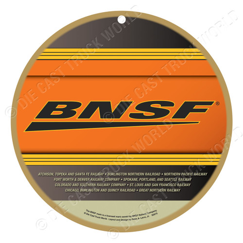 Burlington Northern Santa Fe (BNSF) Wooden Plaque