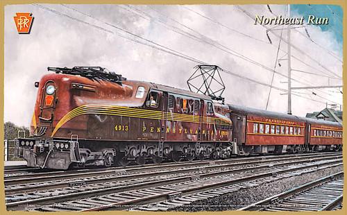 "Pennsylvania Railroad (PRR) ""Another Northeast Run"" Wooden Railroad Art Plaque"