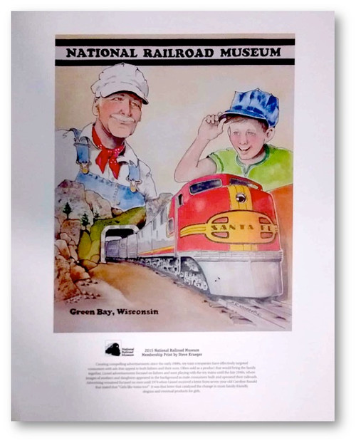 National Railroad Museum® - Santa Fe Model Train Ad Print by Steve Krueger