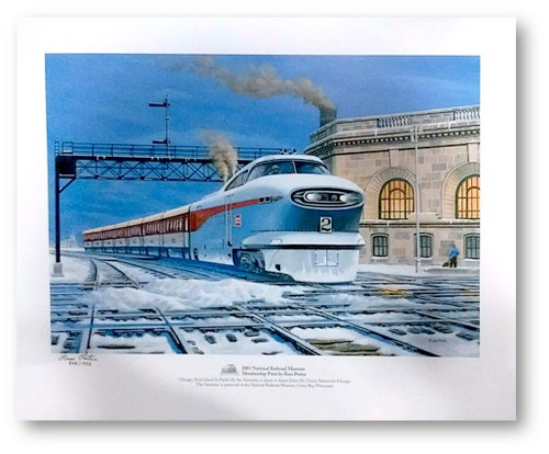 National Railroad Museum® - General Motors Aerotrain Print by Russ Porter