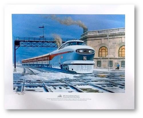 National Railroad Museum® - General Motors Aerotrain Print by Russ Porter