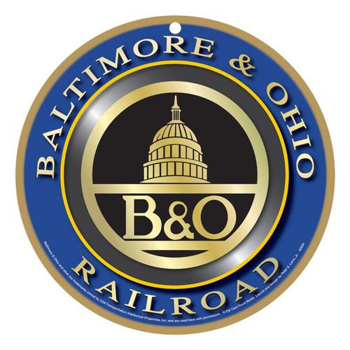 Baltimore & Ohio (B&O) Wooden Plaque