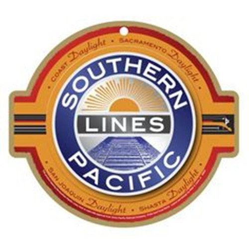 Southern Pacific Lines Wooden Plaque
