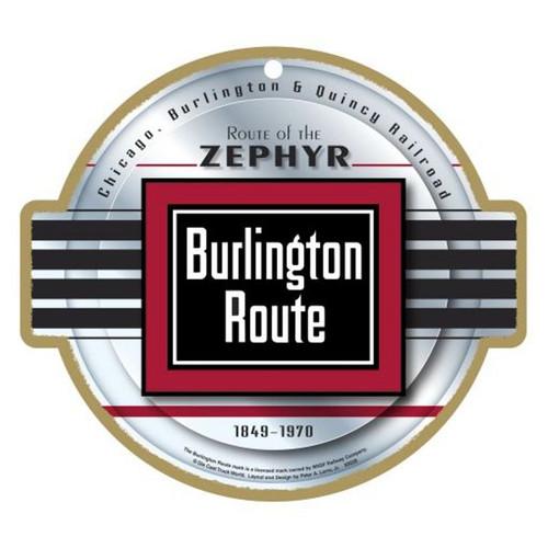 Burlington Route Wooden Plaque
