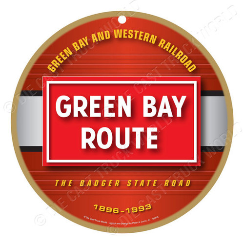 Green Bay Route Wooden Plaque